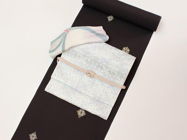 とび柄小紋博多織コーデ