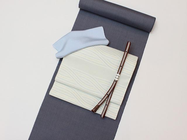 縞紬ハンサムコーデ