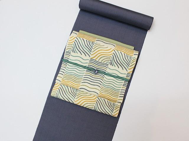 着物コーディネート 紬に染め帯
